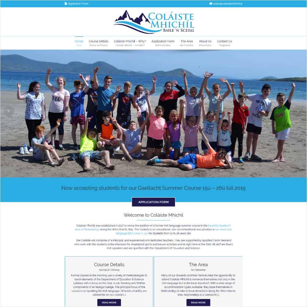 Coláiste Mhichíl - New Website Launched
