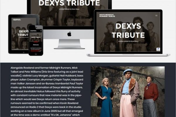Dexys Midnight Runners Tribute Website - New Website Launched