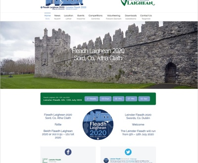 Leinster Fleadh 2020 - New Website Launched