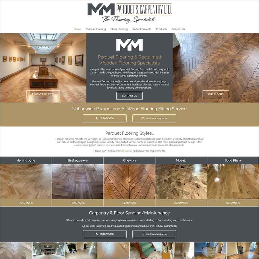 MM Parquet & Carpentry Ltd - New Website Launched