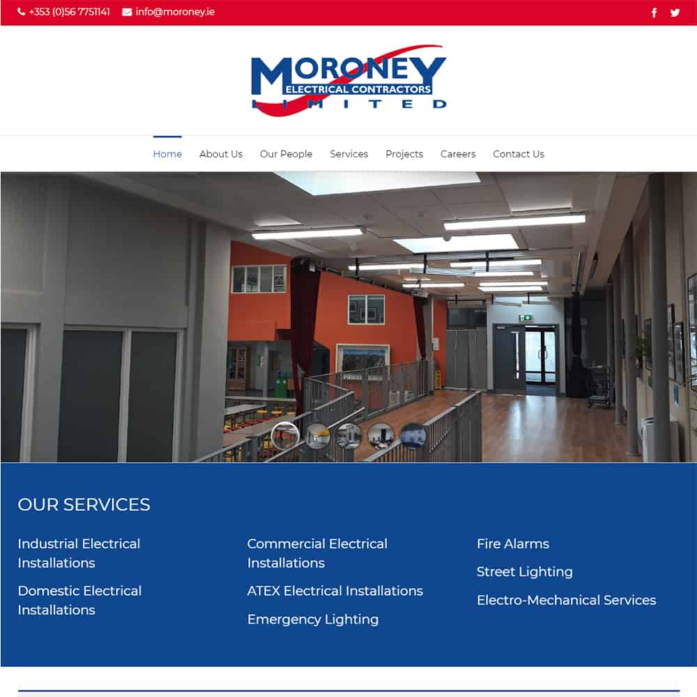 Moroney Electrical Contractors - New Website Launched